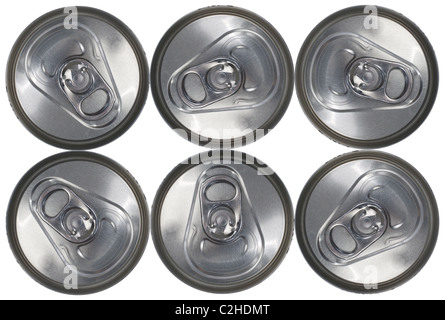 Top Down View of a Six Can Pack - Stock Photo