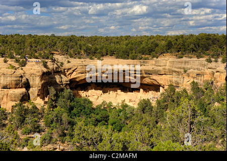 Cliff Palace, cliff dwelling in Mesa Verde National Park - Stock Photo
