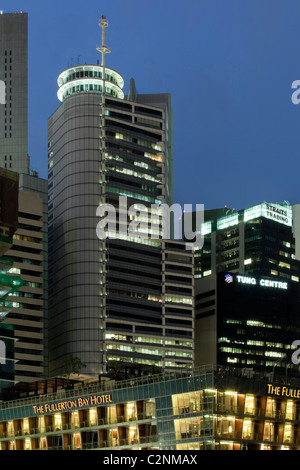 The Hitachi Tower commercial building was designed by Murphy/Jahn and local firm Architects 61 Pte Ltd. It was completed - Stock Photo