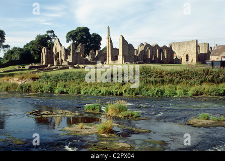 Finchale Priory. General view. - Stock Photo