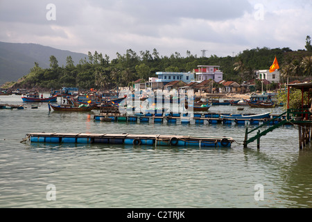 Fishing boats on Hon Mieu island near Nha Trang - Stock Photo