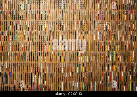 A wall full of many ballpoint pens. - Stock Photo