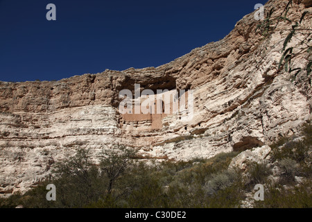 Montezuma's Castle National Historic Site in Arizona, United States - Stock Photo