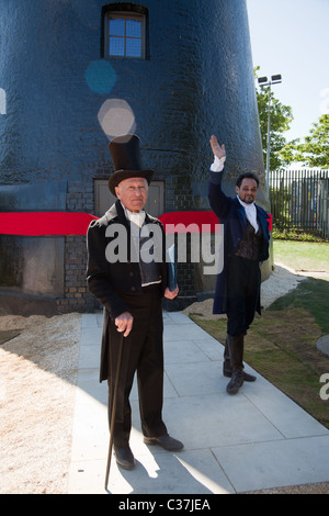 Actors during the opening ceremony, Brixton Ashby Mill - Stock Photo