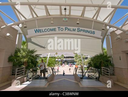 Palm Springs International Airport terminal - Stock Photo