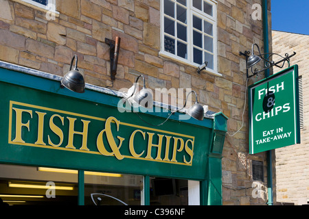 Traditional Fish and Chip Shop, Bakewell, The Peak District, Derbyshire, UK - Stock Photo