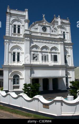 Facade Meeran Jumma Masjid Fort Galle Sri Lanka - Stock Photo
