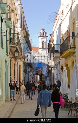 Havanna Cuba street scene - Stock Photo