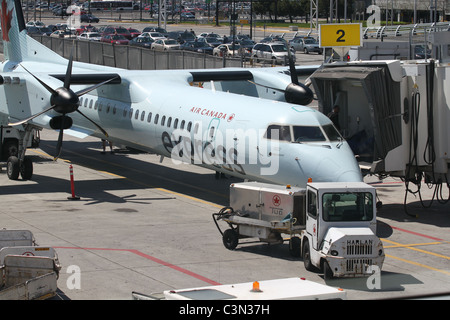 Air Canada Express Jet preparing for take-off - Stock Photo