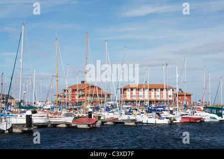 Hartlepool Marina, Hartlepool, England, UK - Stock Photo