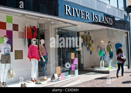 River Island clothes store, Kingston upon Thames, Surrey, UK - Stock Photo