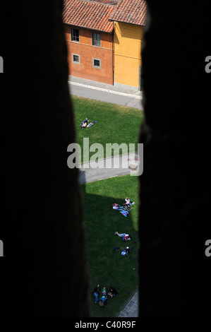 A View from Pisa tower window - Stock Photo