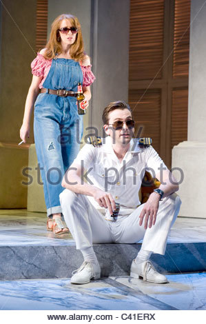 Much Ado About Nothing by William Shakespeare, directed by Josie Rourke - Stock Photo
