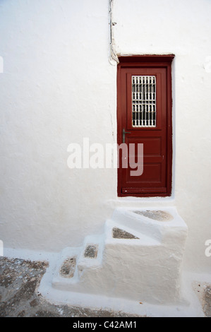 Panagia Tourliani Monastery, Ano Mera, Mykonos, Cyclades, Greece. - Stock Photo