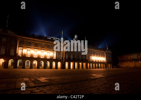 The Rajoy Palace (Palacio de Rajoy) on the Obradoiro square in Santiago de Compostela. - Stock Photo