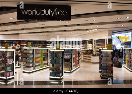 Duty Free Shop - Terminal 5 - Heathrow Airport - London - Stock Photo