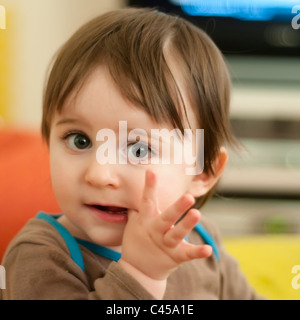 1 and a half years old toddler-model released - Stock Photo