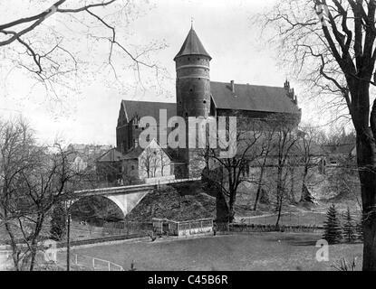 Castle Allenstein, today Olsztyn - Stock Photo
