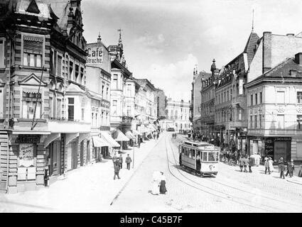 Zeppelinstrasse in Allenstein, today Olsztyn - Stock Photo