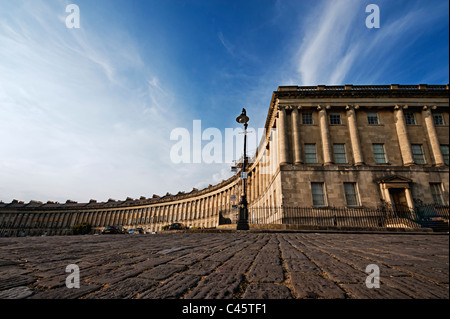 the Royal Crescent, Bath, Bath and North East Somerset, England, Great Britain, UK - Stock Photo