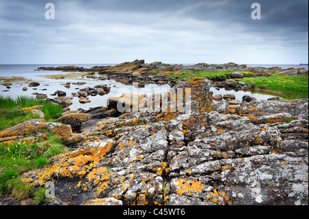 Rocks on Bornholm island, on Baltic sea in Denmark - Stock Photo