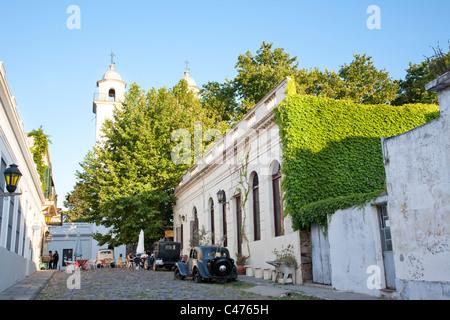 Iglesia Matriz, Barrio Historico, Colonia del Sacramento, Uruguay - Stock Photo