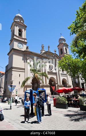 Iglesia Matriz, Plaza de la Constitucion, Barrio Historico, Montevideo, Uruguay - Stock Photo