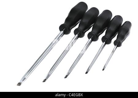 wrench set on back background - Stock Photo