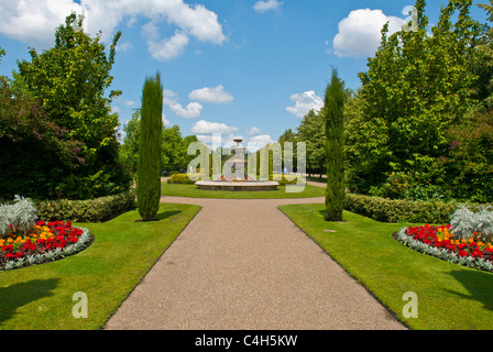 One of the entrances to The Regent's Park, London, United Kingdom, taken in early summer 2011. - Stock Photo