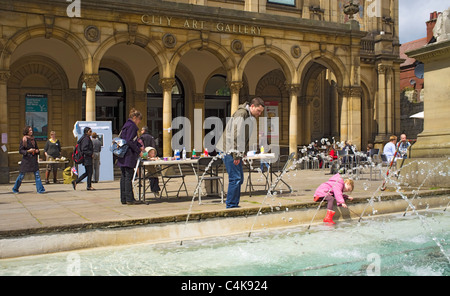 Art in Exhibition Square, York, Yorkshire, England - Stock Photo