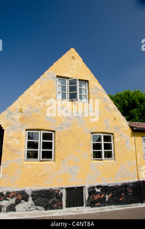 Denmark, Island of Bornholm, Gudhjem. Picturesque fishing village of Gudhjem located along the shores of the Baltic - Stock Photo