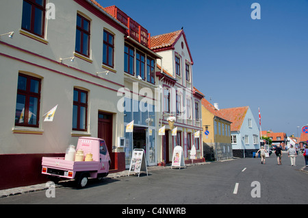 Denmark, Island of Bornholm, Gudhjem. - Stock Photo