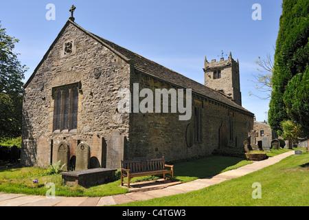 St. Mary the Virgin Church, Muker, Swaledale, Yorkshire, England - Stock Photo
