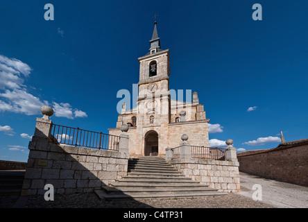 Lerma old city in Burgos, Collegiate church of San Pedro in Lerma - Stock Photo