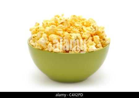 Bowl of Popcorn, Bowl of Gluten Free, Organic Popcorn - Stock Photo