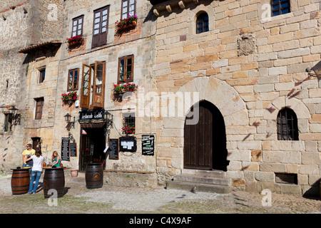Square of Santillana del Mar, Cantabria, Spain - Stock Photo