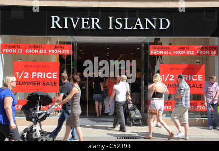 A River Island store in Chesterfield, England, U.K. - Stock Photo