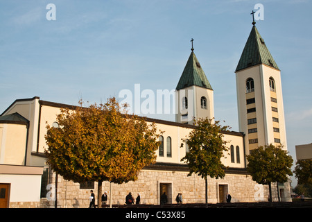 BOSNIA & HERZEGOVINA, MEDUGORJE. Church in the sanctuary Medjugorje, Herzegovina, Bosnia & Herzegovina, Europe. - Stock Photo