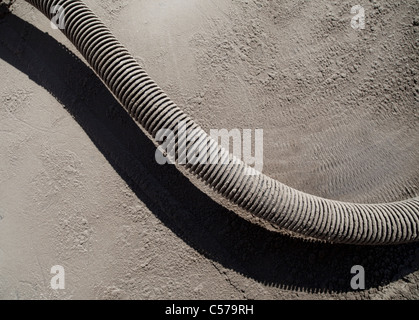 Dirty corrugated metal pipe - Stock Photo