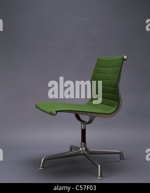 Aluminium Chair by Charles and Ray Eames, 1958. - Stock Photo