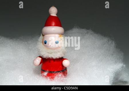 Christmas decorations Festive festivities toys store red green shepherds wisemen wise men kings magi sheep lights - Stock Photo