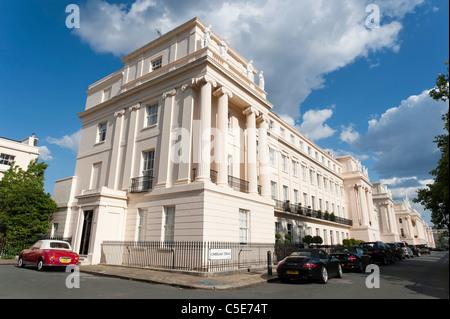 Cumberland Terrace designed by John Nash beside Regent's Park, London, England, UK - Stock Photo
