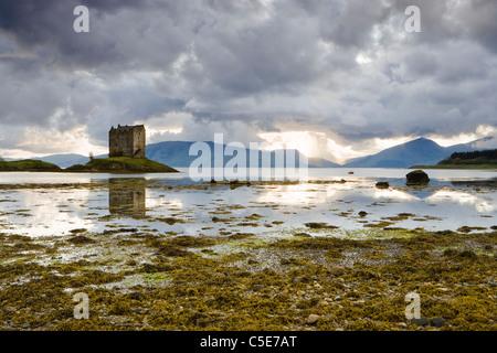Castle Stalker, Argyll, Scotland, UK - Stock Photo