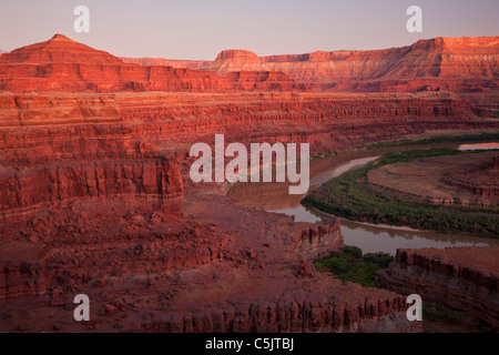 The Colorado River from Potash Road, Island in the Sky District, Canyonlands National Park, near Moab, Utah. - Stock Photo