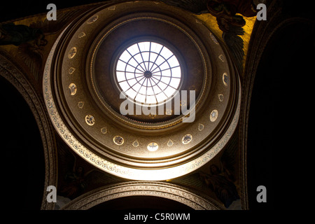 Interior of dome sky light, Memorial Church, Stanford University, Stanford, California, United States of America - Stock Photo