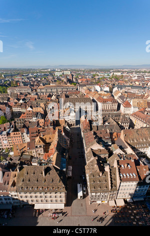France, Alsace, Strasbourg, View of cityscape - Stock Photo