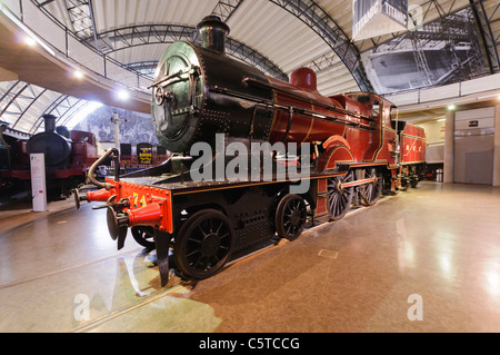 4-4-4 Irish steam train in the Ulster Transport Museum, Cultra - Stock Photo