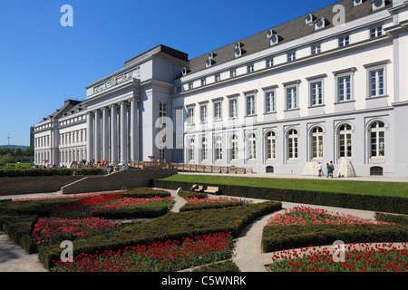 Kurfuerstliches Residenzschloss waehrend der Bundesgartenschau 2011 in Koblenz, Rheinland-Pfalz - Stock Photo