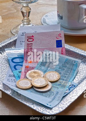 Payment in French euros, - Stock Photo