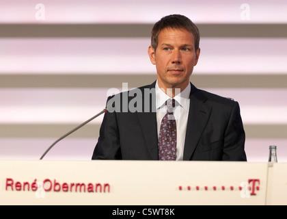Rene Obermann, CEO Deutsche Telekom. - Stock Photo